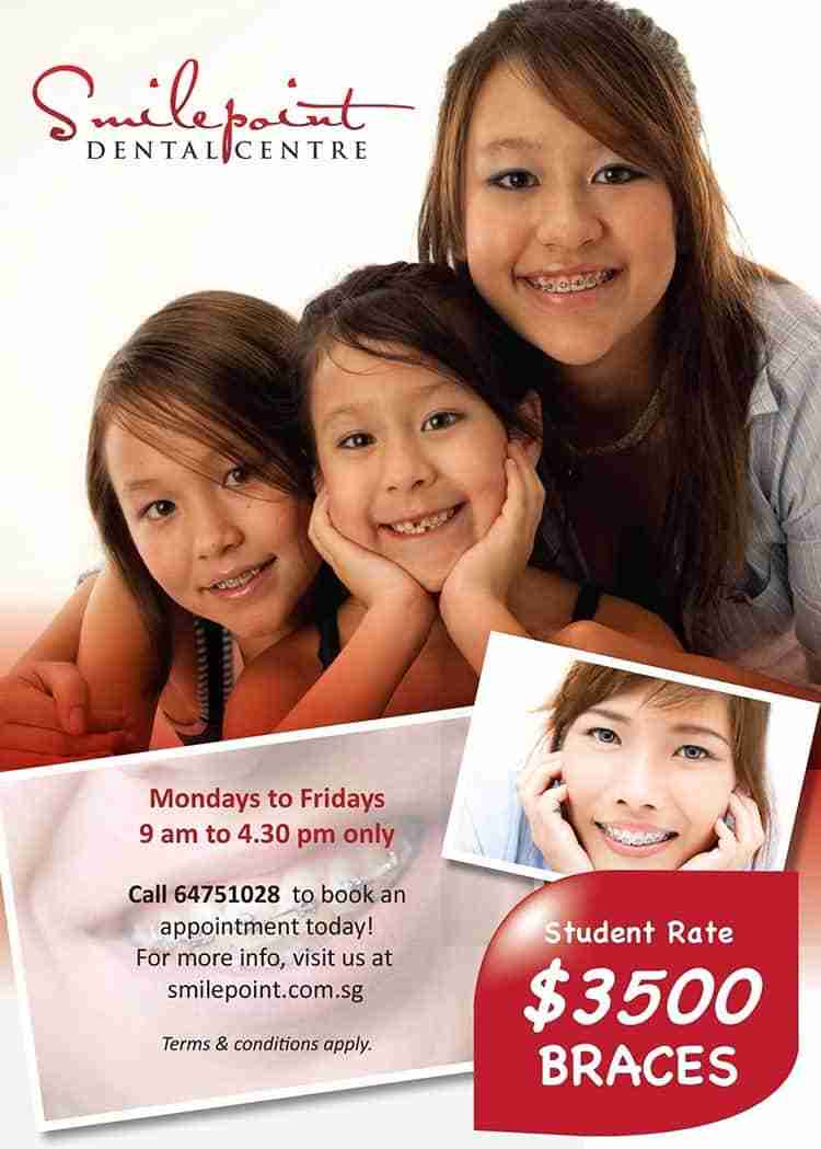 Cost of Braces for students at Smilepoint is $3500